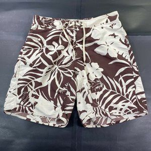 Patagonia Mens 35 Brown Hawaiian Trunks Shorts